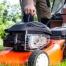 Anlassen des Rasenmähers