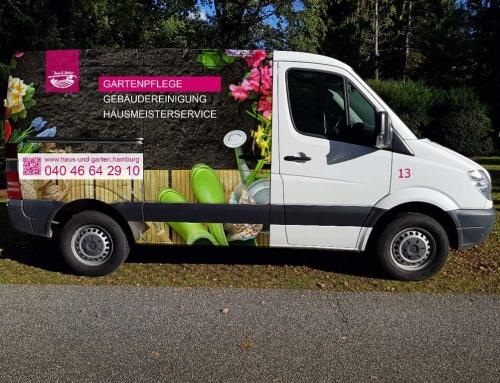 Fahrzeugwerbung Gartenpflege