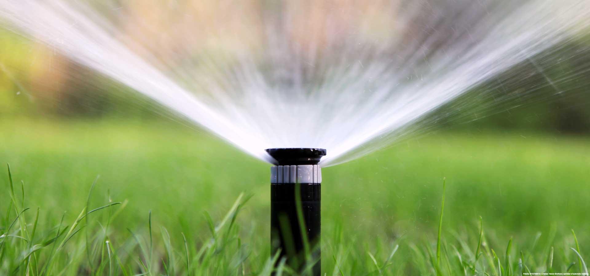 Bewässerungsanlage nach Installation im Garten
