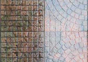 Terrasse vor und nach einer Hochdruckreinigung